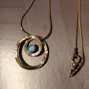 Jewelry - Blue Opal and Silver Necklace